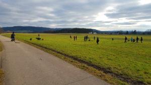 Gruppentraining in Lauf an der Pegnitz. Hundetrainer Oliver Ludwig im Einsatz.